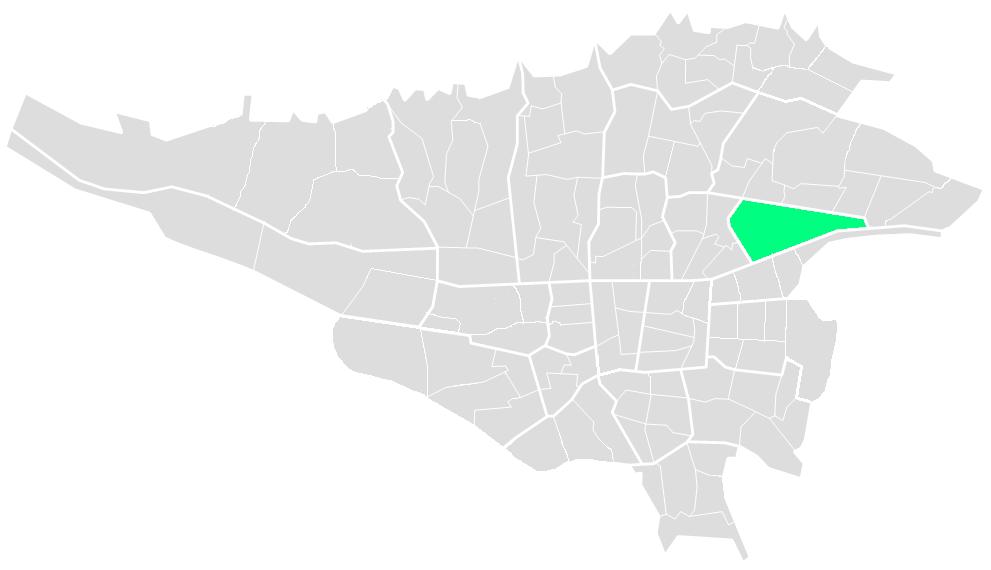 نقشه مناطق تهران
